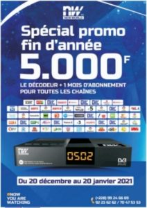 Le Bouquet New World Tv Togo, disponible à 5000 F